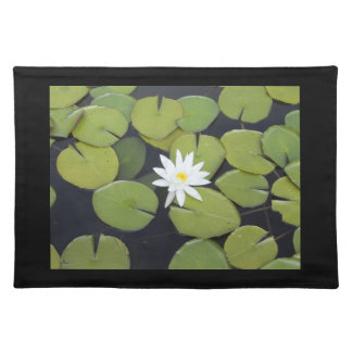Zen Lily Pad with Flower Placemat