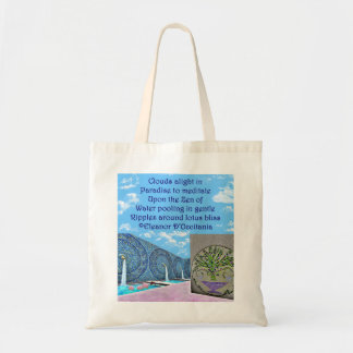 Zen Lotus Bath Poetry Budget Tote Bag