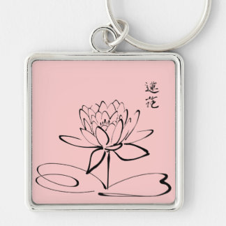 Zen Lotus Flower Key Ring
