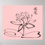 Zen Lotus Flower Poster