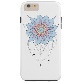 Zen Mandala design Tough iPhone 6 Plus Case