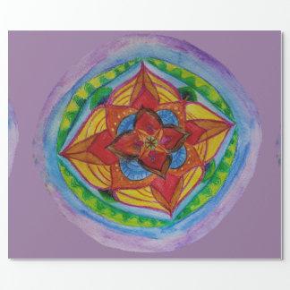 """Zen Mandala Matte Wrapping Paper, 30"""" x 6'"""
