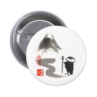 Zen Monk on Journey 6 Cm Round Badge