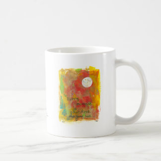 Zen Moon modern art painting - live in the moment Coffee Mug