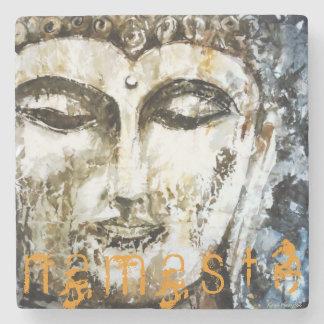 Zen Namaste Buddha Watercolor Art Stone Coaster