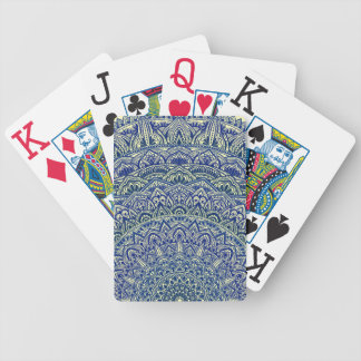 Zen Navy and yellow Mandala Bicycle Playing Cards