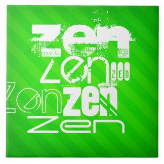Zen; Neon Green Stripes Ceramic Tiles