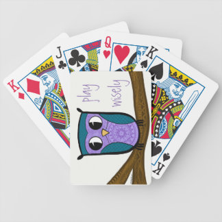 Zen Owl play wisely Bicycle Playing Cards