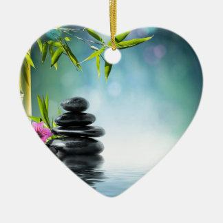 zen paradise aka Bali last summer- 2012 II Ceramic Heart Decoration