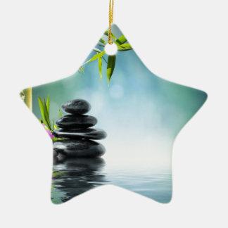 zen paradise aka Bali last summer- 2012 II Double-Sided Star Ceramic Christmas Ornament