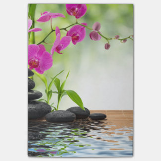 zen,peace,pink orchid,beautiful,spa,healing,yoga,c post-it notes