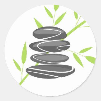 Zen pebble stones stack stickers or envelope seals