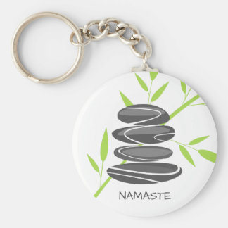 Zen pebble stones stacking meditation keychains