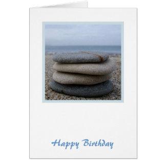 Zen Pebbles Birthday Card