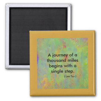 Zen quote A journey of a thousand miles begins Magnet
