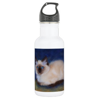 Zen Ragdoll kitten painting 532 Ml Water Bottle