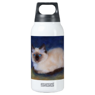 Zen Ragdoll kitten painting Insulated Water Bottle