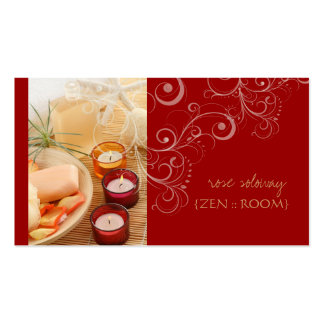 Zen room candle + swirls business cards