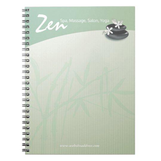 ZEN Stone Bamboo YOGA SPA Massage Therapy Salon Notebooks