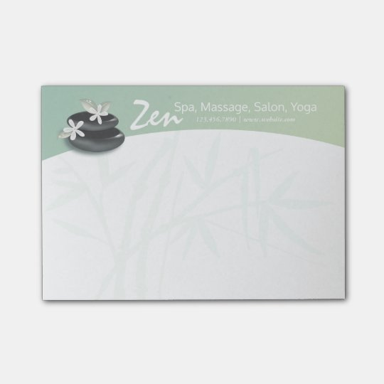 ZEN Stone Bamboo YOGA SPA Massage Therapy Salon Post-it® Notes