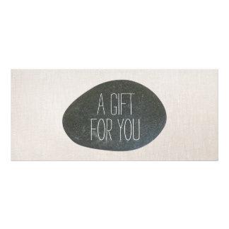 Zen Stone Massage Therapist Gift Certificate 10 Cm X 23 Cm Rack Card