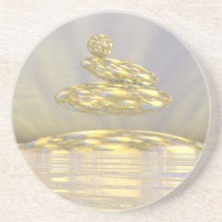 Zen stones - 3D render Beverage Coasters