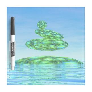 Zen stones - 3D render Dry Erase Board