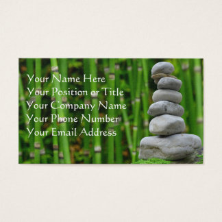 Zen Stones and Bamboo Business Card