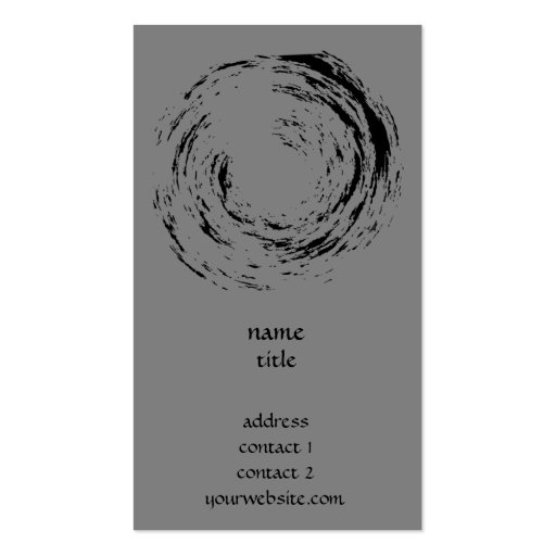 Zen Style - Circle in Brush Painting Business Business Card Templates