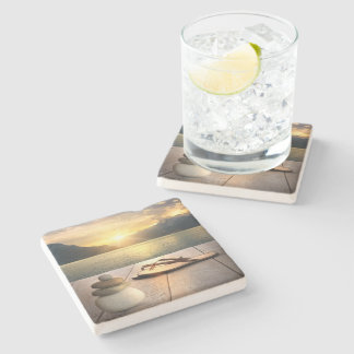 Zen Sunset Stone Coaster
