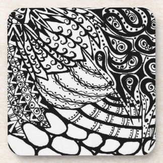 Zen Tangle Patterns Coaster