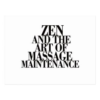 ZEN & The Art of MASSAGE Postcard