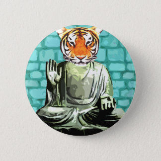 Zen Tiger 6 Cm Round Badge