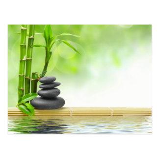 Zen tranquility water garden by healing love postcard