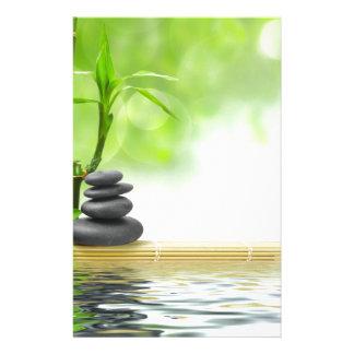 Zen tranquility water garden by healing love stationery design