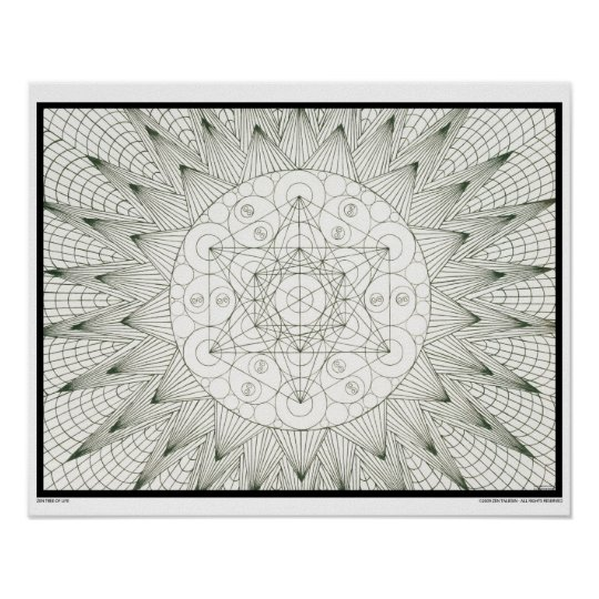 Zen Tree of Life Poster