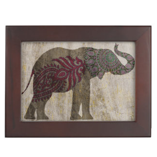 Zen Tribal Elephant Keepsake Box
