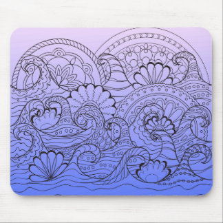 zen waves mouse pad