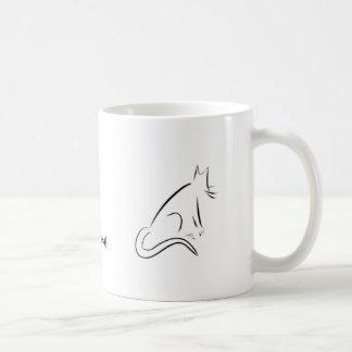 Zen White Cat Mug