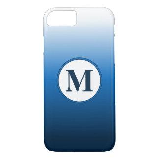 Zen White to Deep Blue Ombre Monogram iPhone 8/7 Case