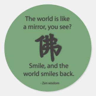 Zen Wisdom - We Get What We Give Round Stickers