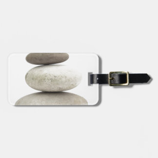 Zen yogo stones luggage tag