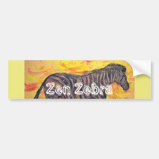 Zen Zebra Bumper Sticker