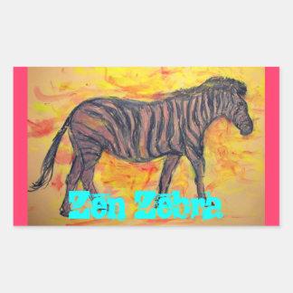 Zen Zebra Rectangular Sticker