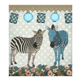 Zen Zebras Art Canvas Stretched Canvas Prints
