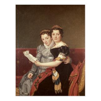 Zenaide  and Charlotte  Bonaparte, 1822 Postcard