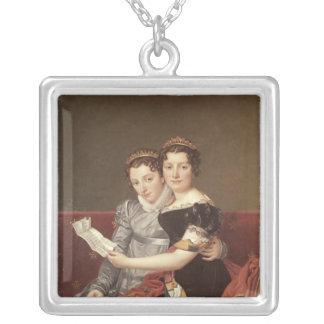 Zenaide  and Charlotte  Bonaparte, 1822 Silver Plated Necklace