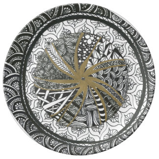 Zendala Decorative Plate Porcelain Plate
