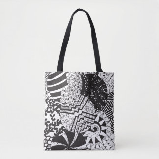 Zendoodle Circle Patterns | All-Over Print Tote Bag