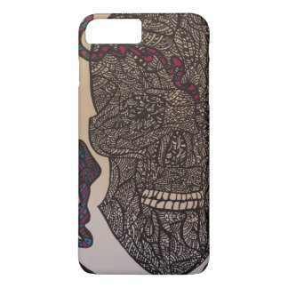 Zendoodle skull/snake iPhone 7 plus case